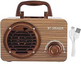 Bluetooth Speaker - FT3001 Wooden Vintage Wireless Speaker Portable Outdoor Intelligent Computer Loudspeaker Box(Brown) photo