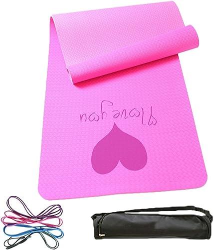 HCJYJD Tapis de Yoga, épaissir allonger Anti-dérapant Insipide Prougeection de l'environnement Tapis de Fitness Tapis d'exercice (Couleur    4, Taille   8mm)