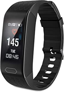 ESHOWEE Fitness Tracker Smart Watch, resistente al agua IP68, rastreador de actividad con pulsómetro, podómetro, reloj, cronómetro, reloj de fitness, monitor de sueño, caloría