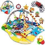 Lionelo Anika Spielmatte Baby Spieldecke Baby Krabbeldecke für Baby Spielbogen für Babys Laufstallfunktion 2 Bögen Spielzeuge im Set ab Geburt nutzbar EN 71