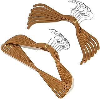 Joy Mangano Huggable Hangers 100 Piece Set - Rich Camel - Chrome