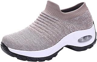 Wandelschoenen Dames Plateau Anti Slip Soksneakers Loopschoenen Ademend Mesh Luchtkussen Sneakers Lichtgewicht Platform Lo...
