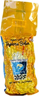30-40 SERVINGS - BUBBLE TEA SUPPLY PREMIUM TAPIOCA BEST-SELLING BOBA PEARL BUBBLES HOME, PARTIES, OR BUSINESS (Black Tapioca 2.2 lbs, 2.2 lbs)