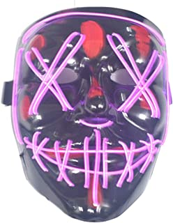 SYLOZ LED Horrible Halloween Mask, Halloween Cosplay Halloween Costume LED Luminous Terrible Purifying Respirator (Color : C)