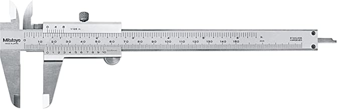 Mitutoyo 530-115 Vernier Caliper, Stainless Steel, Inch/Metric, 0-12