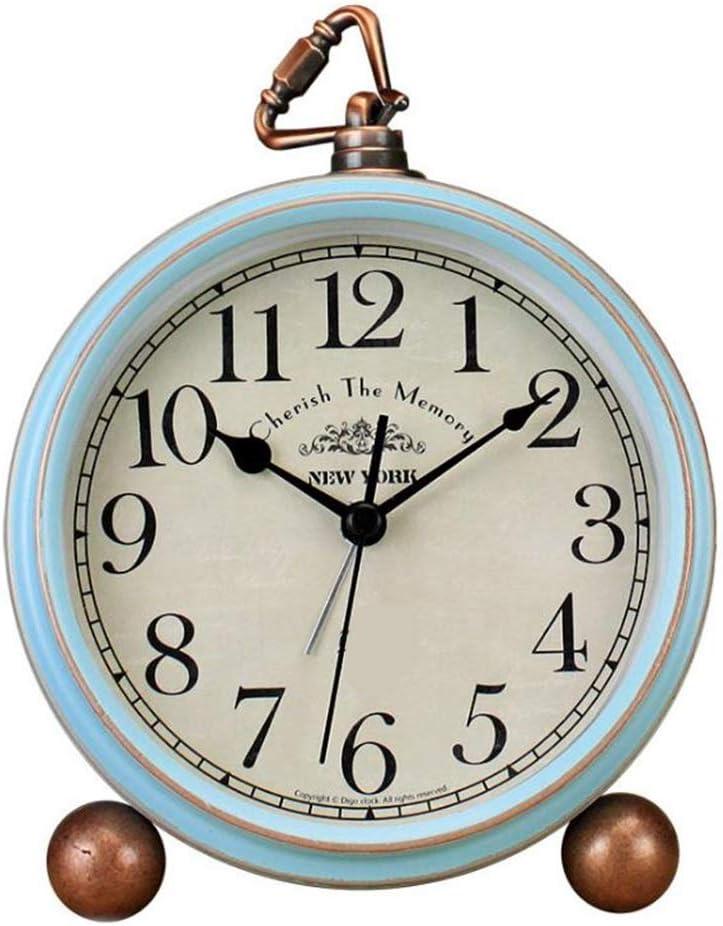 YonCog Decor Max 71% OFF Table Elegant Clock 5.5 Inch American Retro Alarm Clo Metal