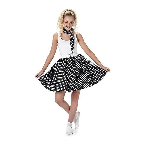 ad3ab418800 Karnival 81097 50 s Polka Dot Skirt   Necktie Costume