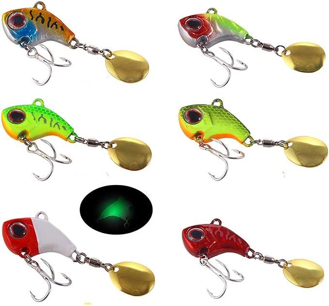 1PC Metal Spoon Bait Spinner VIB Crank Bait Hooks Fishing Tackle Fish Tool