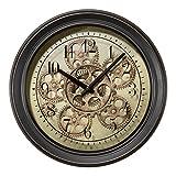 Lacrosse BBB85289 13 in. Metal Clock with Working Gears
