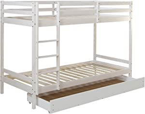 Homestyle4u 1432 Children's Bunk Bed, 90 x 200 cm, White
