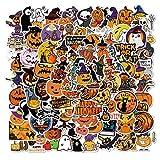 ZZHH 100 Halloween Citrouille décoratif Graffiti Autocollants Coque de téléphone Portable Planche...