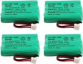 WalR Rechargeable Cordless Phone Battery Ni-CD, 4 Pack, for Hi Capacity B-768 B768 Interstate ATEL0295 TEL0295 Jasco GE TL...