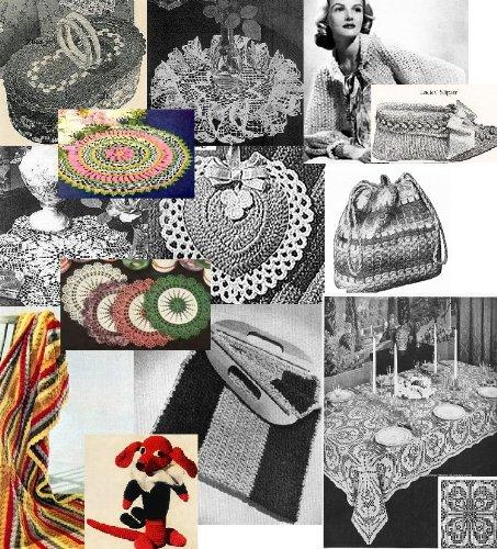 Vintage 1940\'s Crochet Patterns - Doilies, Shrugs, Afghans, Purses, Over 30 Vintage Crochet Patterns (English Edition)