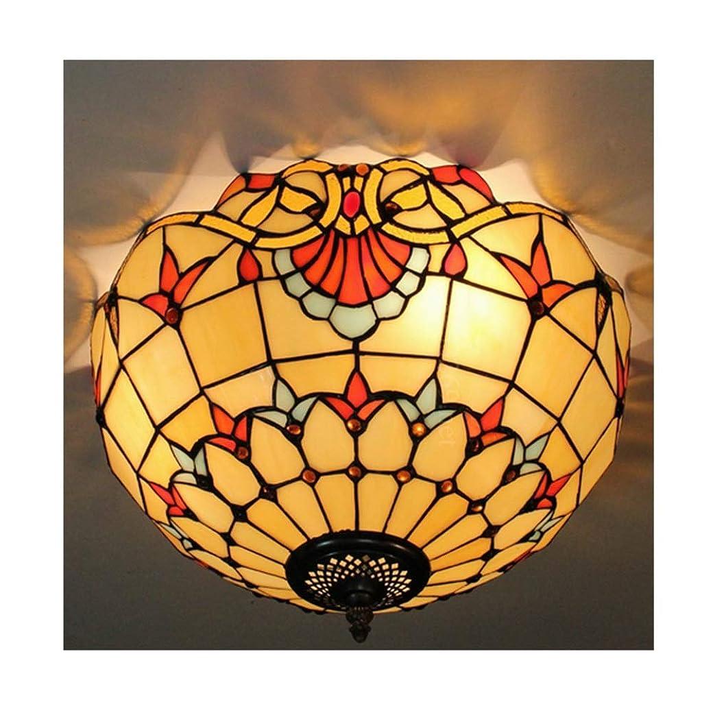 特権的オプショナル尊敬する16インチティファニーアンティーク手作り天井ランプ付きモダンミニマリストデザイン装飾ホームオフィスランプ
