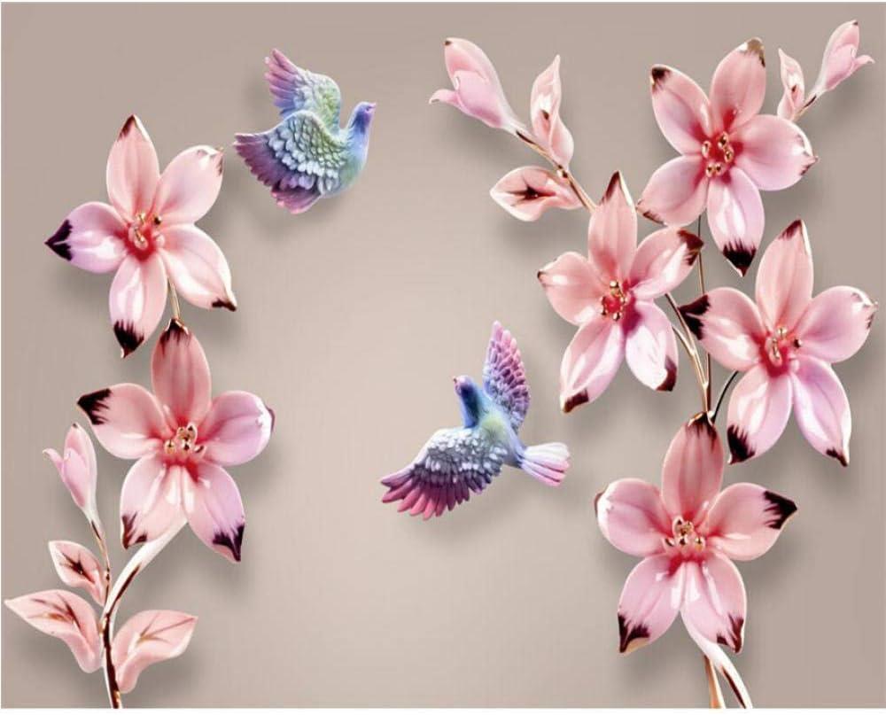 Special sale online shop item Zjxxm Custom Wallpaper Murals Modern Personality Flower Embossed