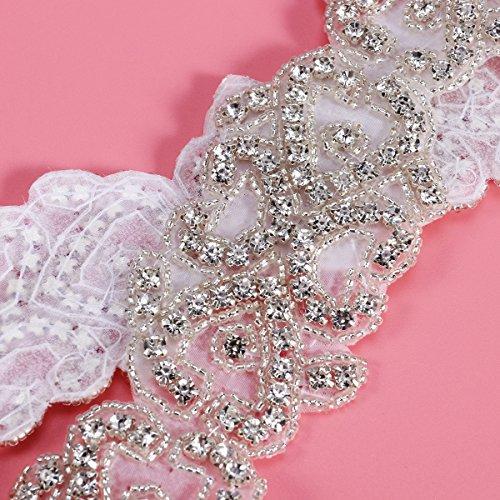 ROSENICE Rhinestone apliques Correa del vestido de boda Hierro En Apliques De Novia De Boda Vestido De Decoracion
