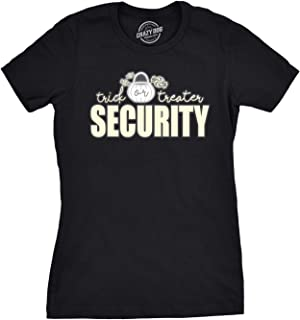Womens Trick Or Treater Security Halloween T Shirt Funny Costume Ideas