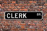No Branded Clerk, Clerk Regalo, Clerk, Clerk, Clerk decoración, Vendedor, Secretario de la tienda, Empleado de tienda, Señal de calle personalizada, Regalo de metal Decoración de pared Cartel de lata