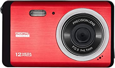Digital Camera 12MP HD 3.0 Inch TFT LCD Screen, Vmotal HD Digital Camera Video Camera Digital Students Cameras,Indoor Outdoor for Adult/Seniors/Kids (Red)