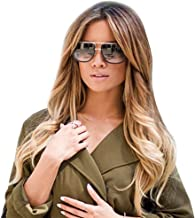 JJLIKER Unisex Rectangular Large Frame Protection Sunglasses Double Bridge Goggles Oversized Fashion Outdoor Travel