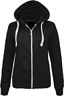Momo&Ayat Fashions Ladies Girls Plain Hoodie Sweatshirt Fleece Lined Jacket AUS Size 8-22