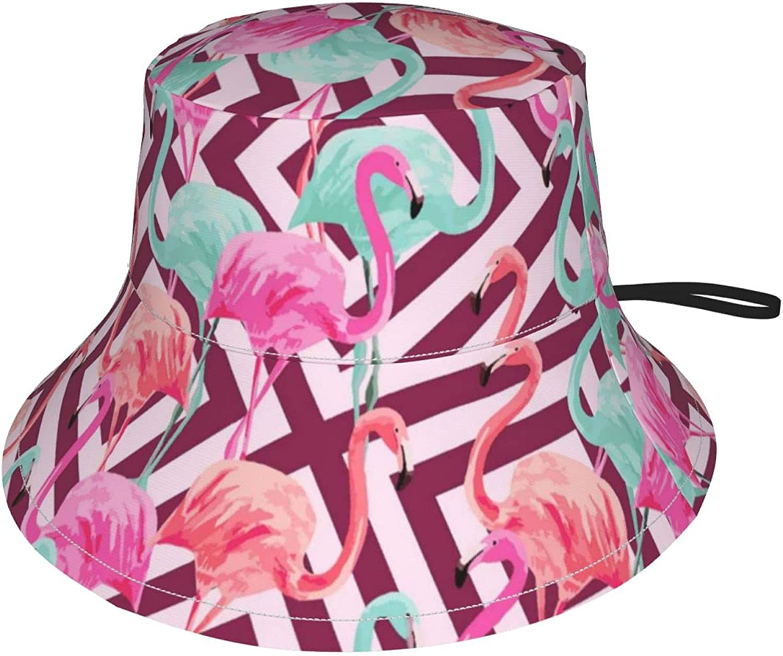 Fabric Flamingo Print Craft Max 88% OFF Kids Adjustable Max 88% OFF Breathable Sun Hat