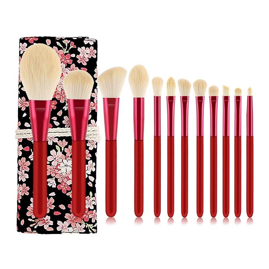 従順カエル嵐の旅行化粧ブラシセット化粧ブラシ、12の合成化粧道具セット化粧道具 (Color : B)