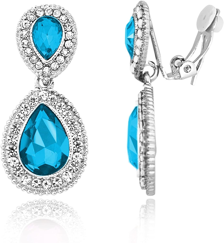 Spinningdaisy Clip On Earrings for Women | Non Pierced Earrings for Wedding | Clipped on Earrings for Girls
