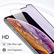 PERFECTSIGHT HD Clear Anti Blue Light Filter Tempered Glass Screen Protector for iPhone 11 Pro 2019, iPhone Xs/ X/ 10 5.8 inch 1 Pack - Anti Fingerprint, 2 Stronger, Alignment Frame Easy Installation