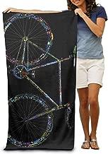 NUGHYFG Toalla de Playa superabsorbente con Palabras Coloridas para Bicicleta Toallas de Playa de 31 Pulgadas x 51 Pulgadas de Terciopelo de poli/éster