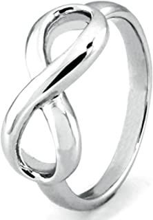 Sterling Silver Infinity Symbol Wedding Band Ring