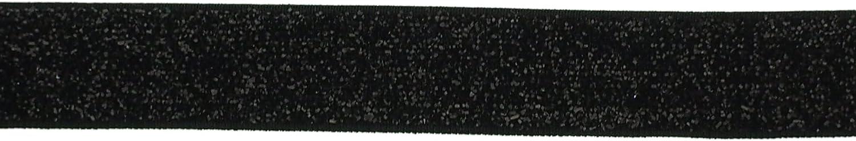 Trimweaver 5 8Inch Glitter Fold Over Elastic for Craft, 5Yard, Black