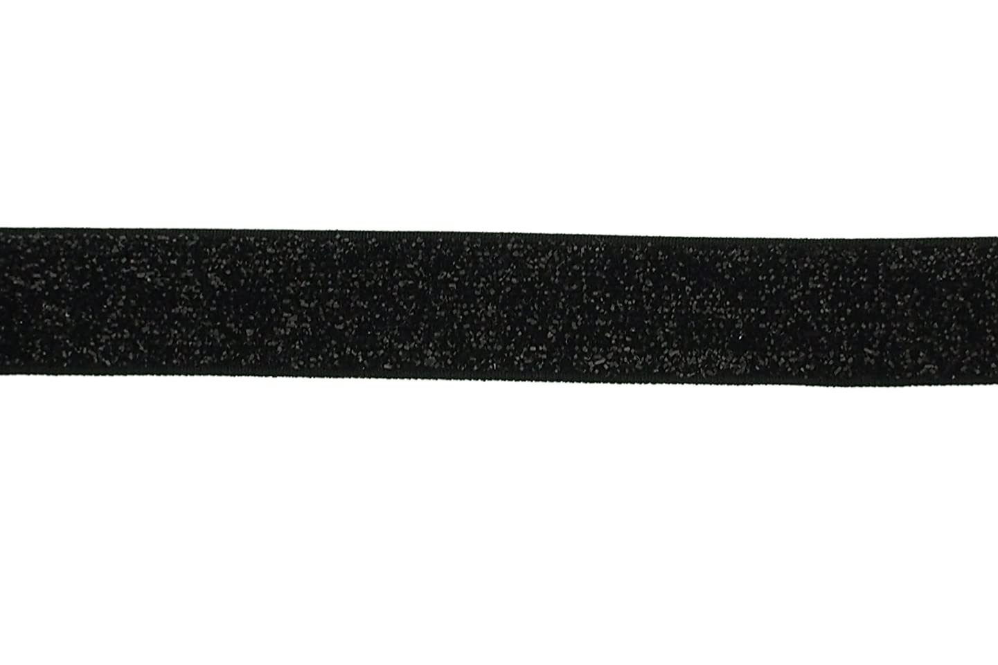 Trimweaver 5/8-Inch Glitter Fold Over Elastic for Craft, 5-Yard, Black