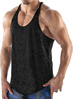 COOFANDY Men's Gym Tank Tops Workout Muscle Tee Training Bodybuilding Fitness T Shirts