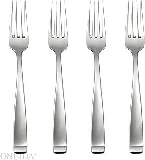 Oneida Forte Fine Flatware Set, 18/10 Stainless, Set of 4 Dinner Forks
