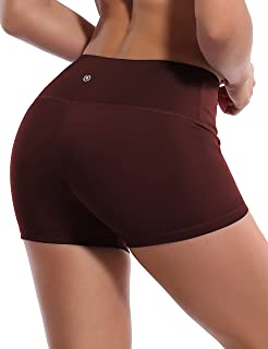 """BUBBLELIME 2.5""""/4"""" Inseam Yoga Shorts Running Shorts Inner Pocket Workout Fitness Active Wicking Tummy Control"""