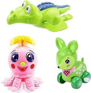 TOYANDONA 3pcs Baby Bath Toy Wind Up Bath Toys Animal Bathtub Toys for Toddlers Floating Toys