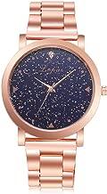 Women Dress Watches Rose Gold Stainless Steel Band Roman Rhineston Creative Quartz Business Wrist Watch