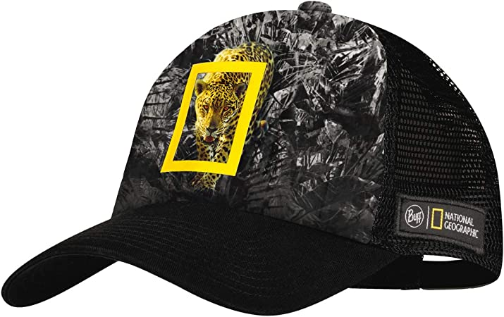 Buff Howey Gorra Trucker National Geographic, Adultos Unisex, Negro, L/XL