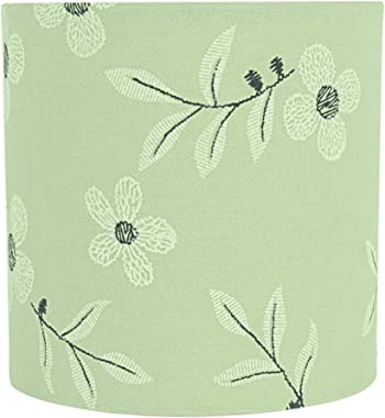 """Aspen Creative 31197 Transitional Drum (Cylinder) Shaped Construction Light Green, 5"""" Wide (5"""" x 5"""" x 5"""") Cli"""