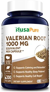 Sponsored Ad - Valerian Root 1000mg 200 Veggie Caps (Vegan, Non-GMO, Gluten-Free ) Supports Sleep and Stress Management*
