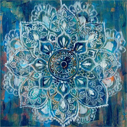 YCOLLC Lienzo de Pintura Arte Abstracto Pósters e Impresiones Arte de la Pared Pintura Ladrillo clásico Sorteo con Flor Mandala Imagen para Livingom No Frameme Sin marco30x30cm