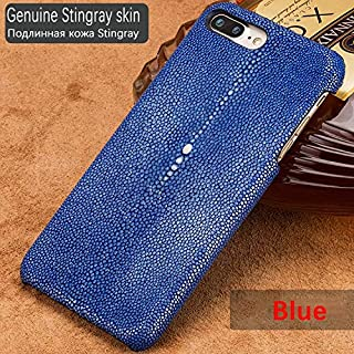 1 piece Handmade Genuine Stingray Leather Case For Iphone X 8 7 6S Plus XS MAX XR Luxury Customize Skin Case Back Cover for Iphone 6 SE
