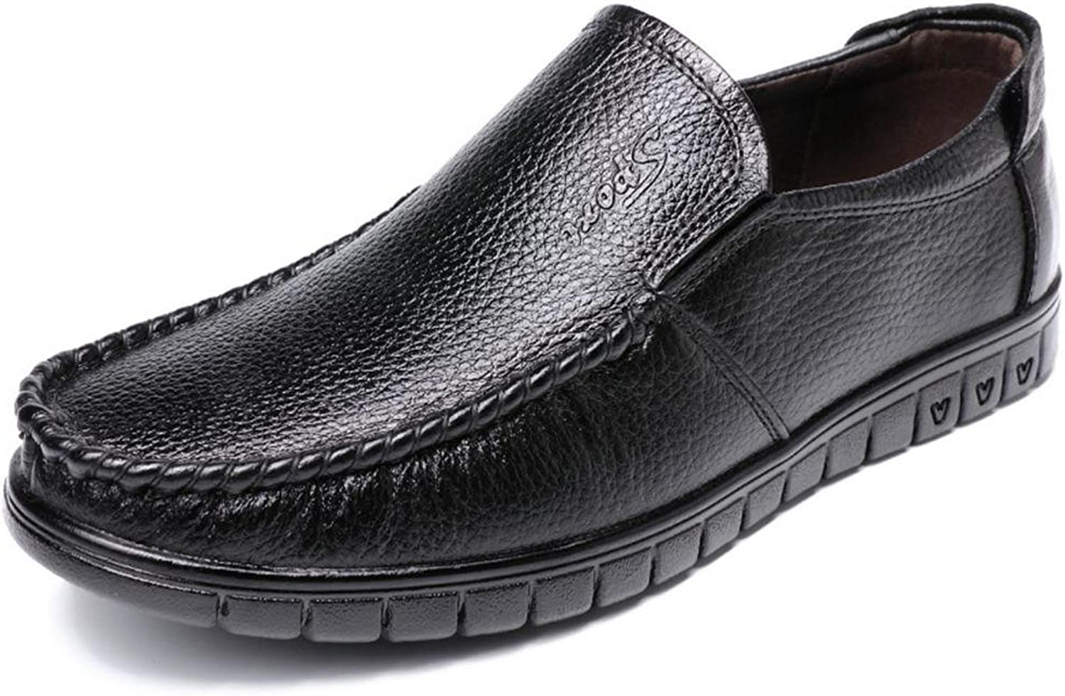 Men's Casual Leather shoes Flat Feet Driving shoes Mens Business Oxford shoes