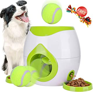 Pet Interactive Toys Tennis Ball Throwing Fetch Machine for Dogs&Cats FDA Food Dispensing Reward Toy Game Animal Training Tool Pet Slow Feeder Puzzle