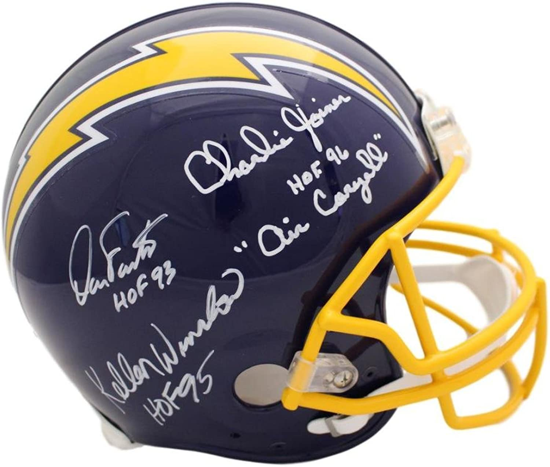San Diego Chargers Triplets Autographed Proline Helmet Winslow Fouts Joiner JSA