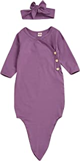 Baby Girls Sleeping Gown,Swaddle Sack Coming Home Outfit Sleepwear Romper Sleeping Bags
