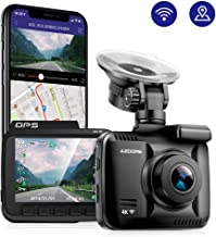 AZDOME UHD 2160P Dash Cam, GPS WiFi Dashboard Car Camera DVR Recorder with G Sensor, WDR,170� Wide Angle, Night Vision, Loop Recording, Parking Monitor, Support 64GB Max