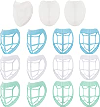 12 Pieces Lipstick Protection Bracket 3D Face Nose Mouth Bracket Nose Pad Face Inner Support Bracket with 3 Pieces Bracket...