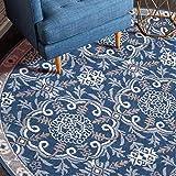Teppich | 1,8m große runde Fläche Nordic Nationale Art Mat Wohnzimmer-Dekoration Beistelltisch Sofa Soft-Antigleiter, 2 m, 212